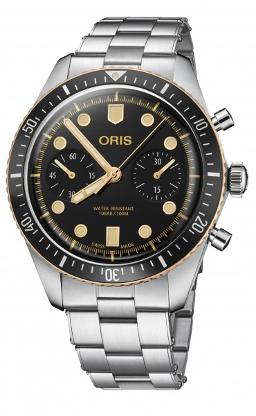 Oris Divers Sixty-Five Chrono Edelstahl