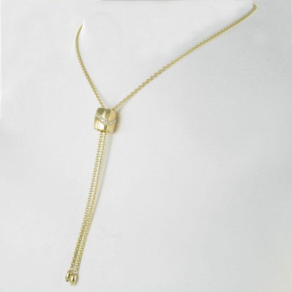 Verschiebe-Collier Brillantwelle 750/GG