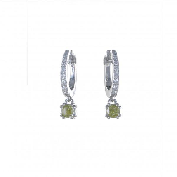 Ohrhänger Diamant im Kissenschliff 750/WG