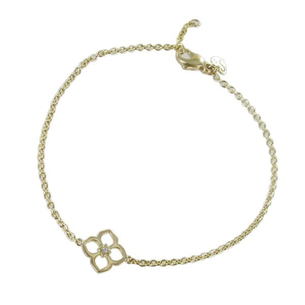 Armband mit Blüte 750/GG
