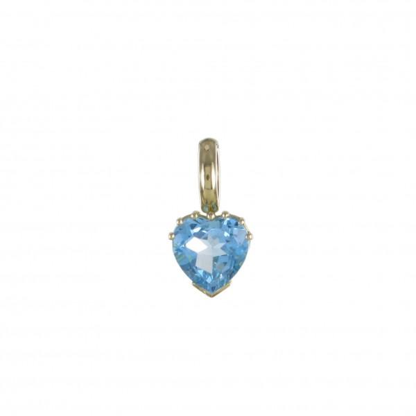 Herz mit Blautopas 750/GG