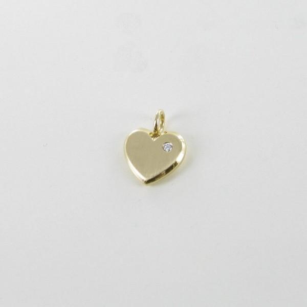 Herz-Anhänger Gelbgold 750/GG