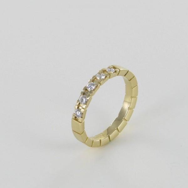 Memoire Ring Gelbgold 5 Brillanten 750/GG