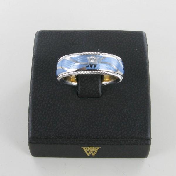 Wellendorff Ring Wellenschimmer 750/WG