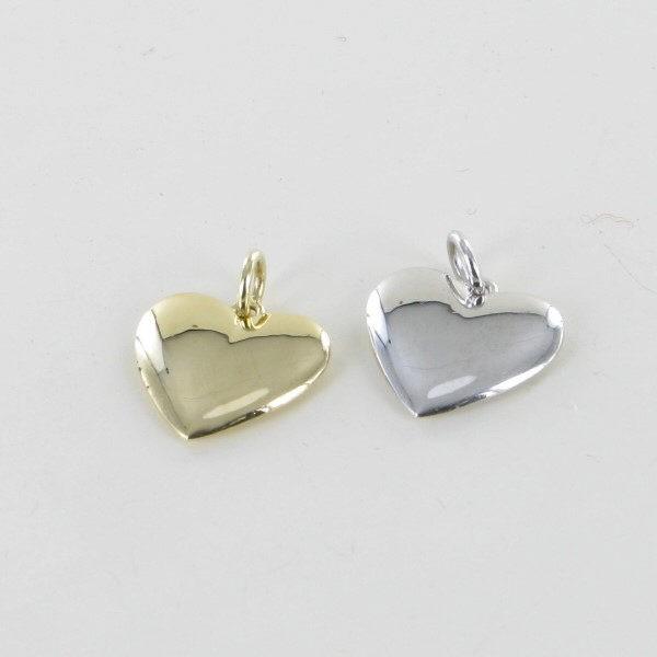Anhänger Herz Weißgold 585/WG
