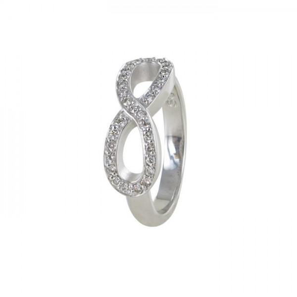 Brillant Ring Infinity Symbol Weißgold 750/WG