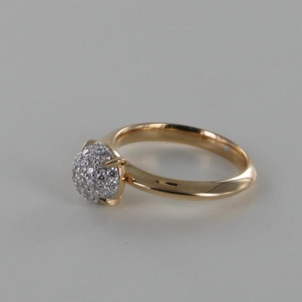 Brillant Ring Rotgold