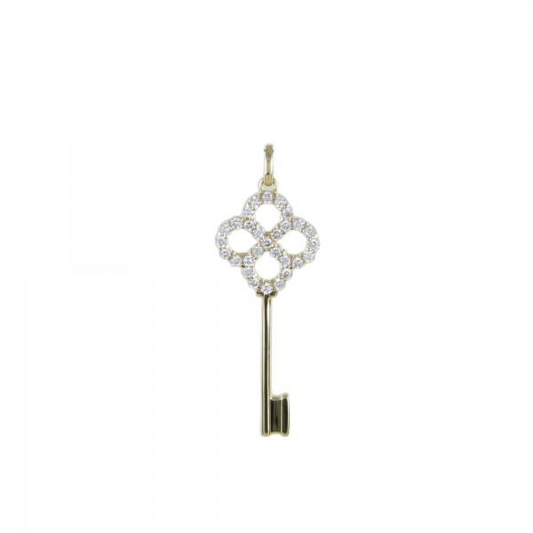 Anhänger Brillant-Schlüssel 750/GG
