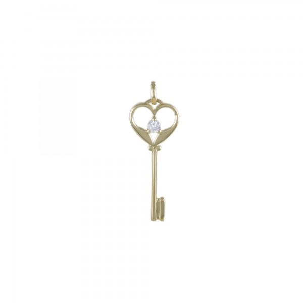 Schlüssel Herz mit Brillant 750/RG