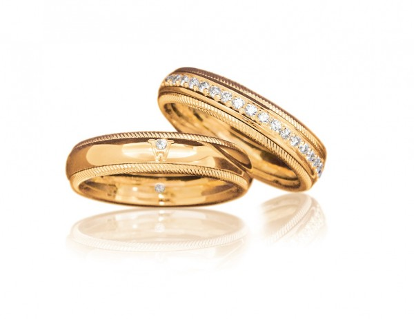 "Ring Brillant-Romeo ""Wellendorff"" 750/GG"