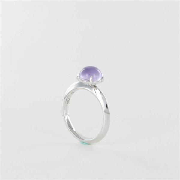 Ring mit Amethyst 750/WG