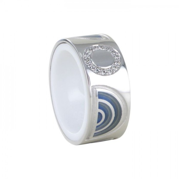 Ring Nightfever light hellblau 750/WG