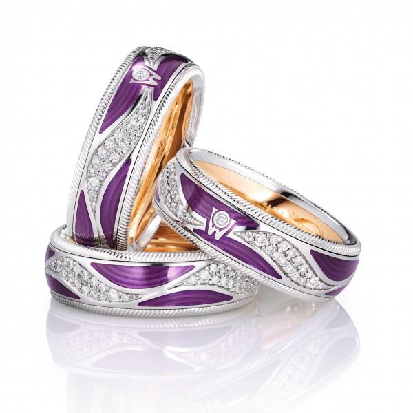 Ring Purpurkuss 750/WG