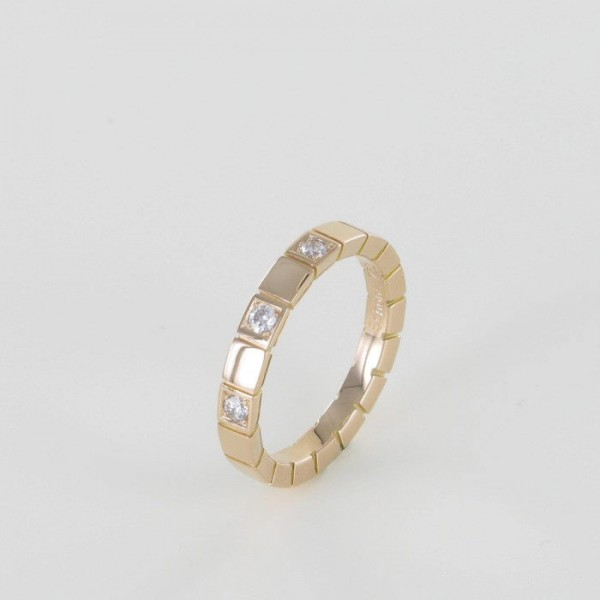 Memoire Ring Rotgold 3 Brillanten 750/RG