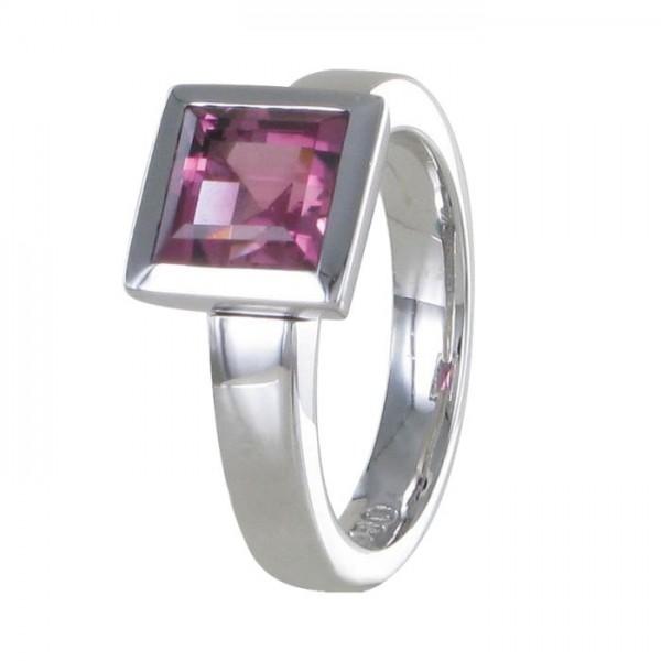 """Ring """"Schöne"""" Carree rosa Turmalin 750/WG"""