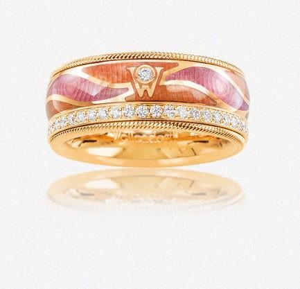 Wellendorff Ring Herzklopfen 750/GG
