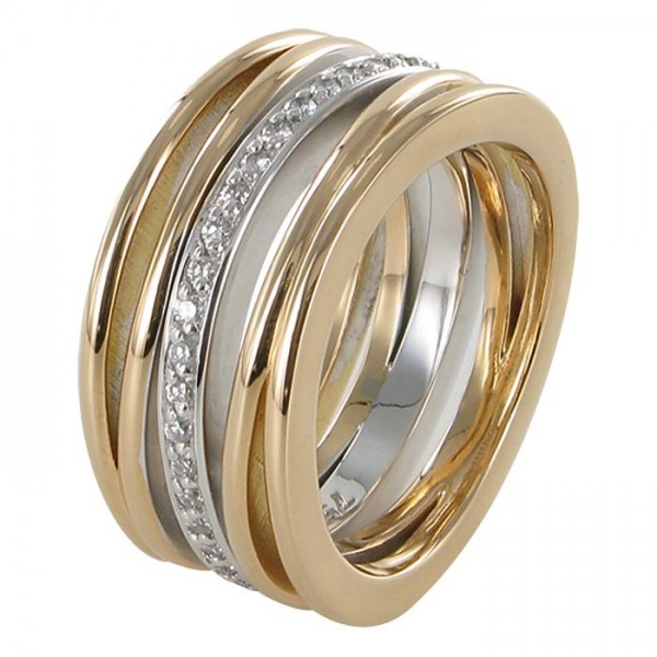 "Brillant-Ring ""Schöne"" 750/RG"