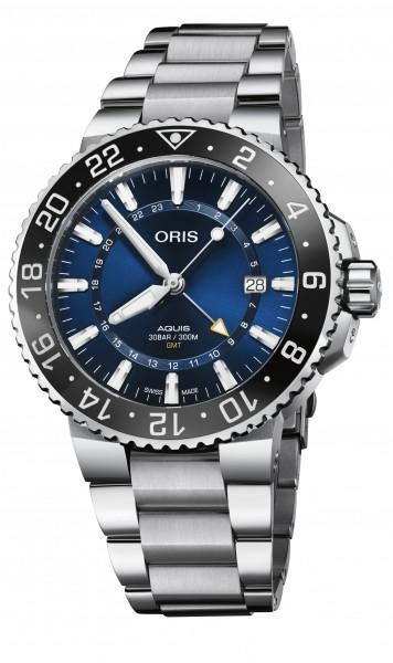Oris Aquis GMT Date Edelstahl