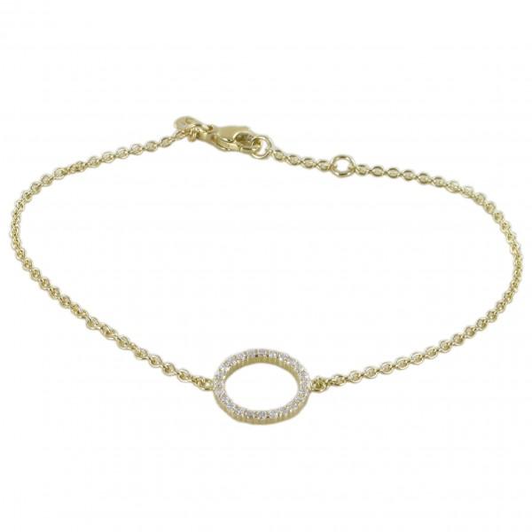Armband Brillantkranz Gelbgold 750/GG